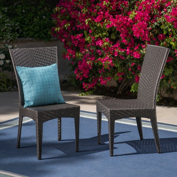 Giunta Outdoor Wicker Patio Dining Chair (Set of 2) by Ebern Designs