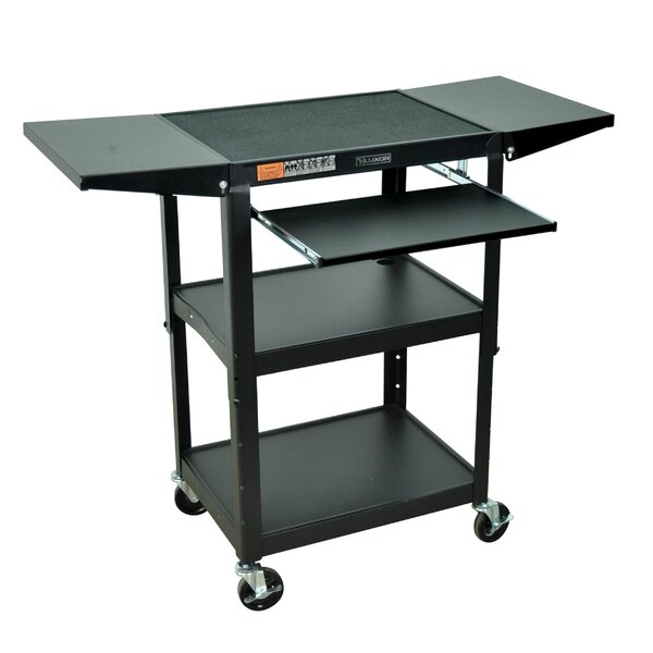 Adjustable Height Workstation and Presentation Center AV Cart by Luxor