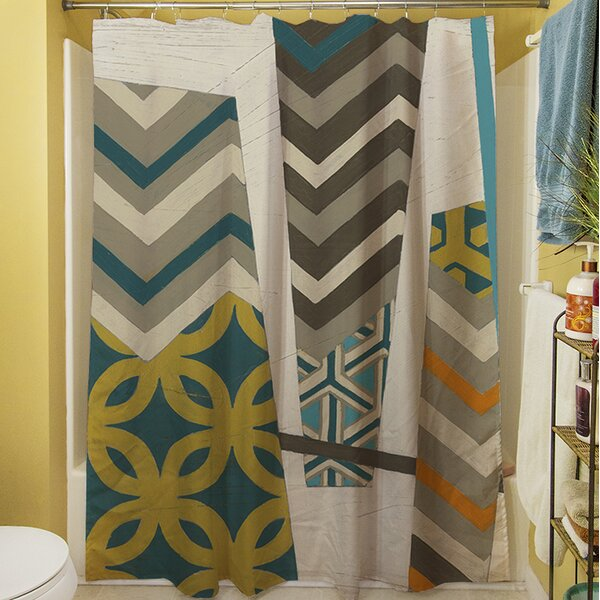 Abstract Scrapbook I Shower Curtain by Manual Woodworkers & Weavers
