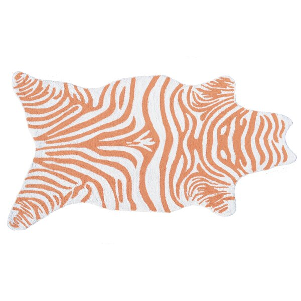 Hand-Woven Orange Outdoor Area Rug by The Conestoga Trading Co.