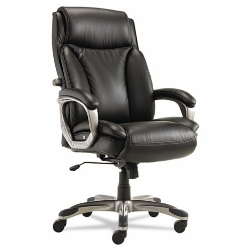 Perkins Genuine Leather Executive Chair by Latitude Run