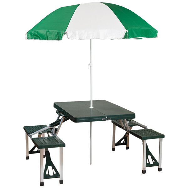 Andrew Picnic Table with Umbrella by Freeport Park