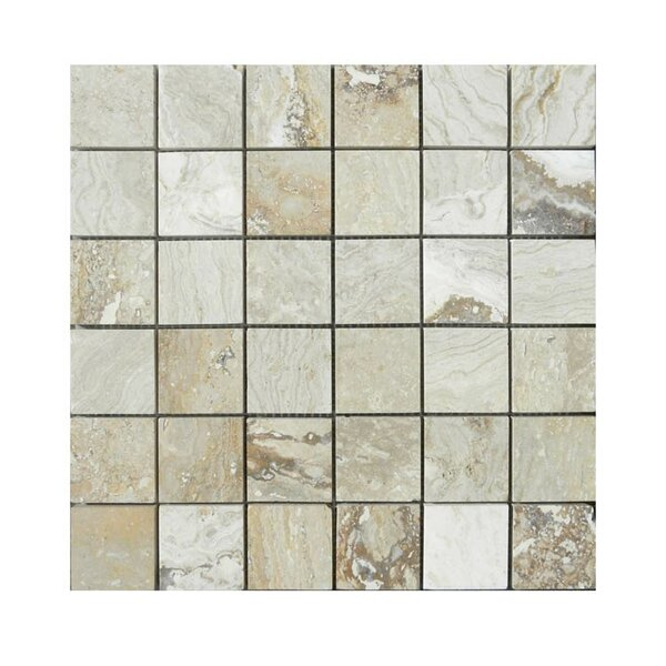 Honed 2 x 2 Natural Stone Mosaic Tile in Beige by QDI Surfaces