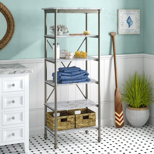Nathaniel 24 W x 60 H Bathroom Shelf by Beachcrest Home