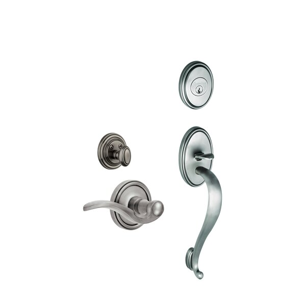 Georgetown S-Grip Right Hand Door Lever by Grandeur