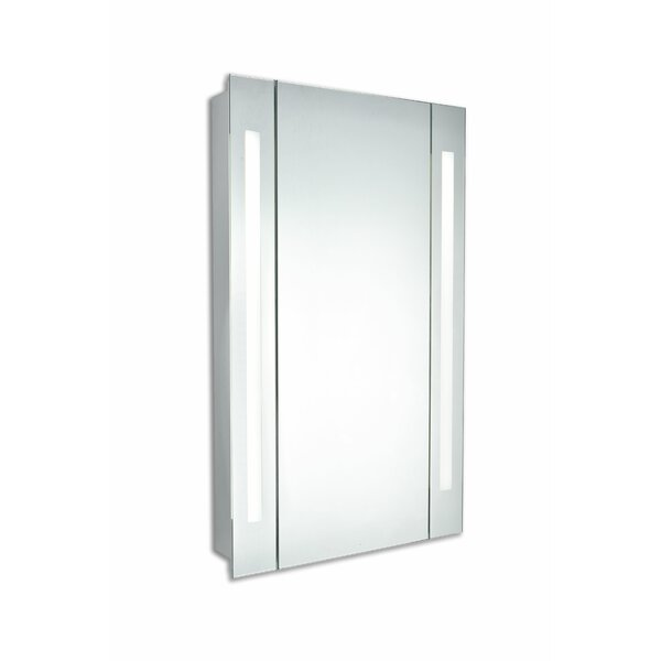 Corby Surface Mount Frameless 1 Door Medicine Cabinet with LED Lighting