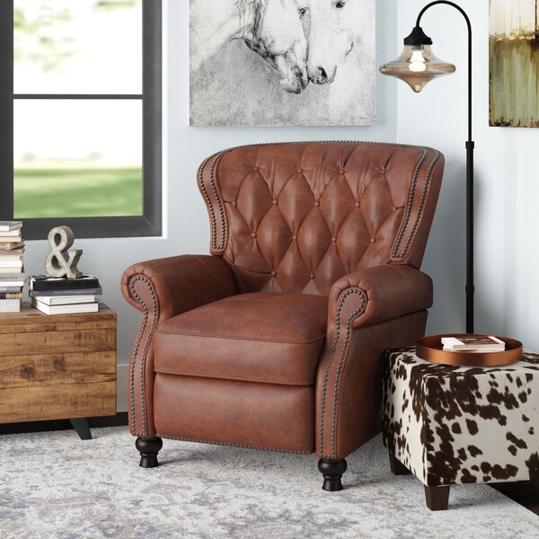 Lenihan Leather Manual Recliner By Laurel Foundry Modern Farmhouse