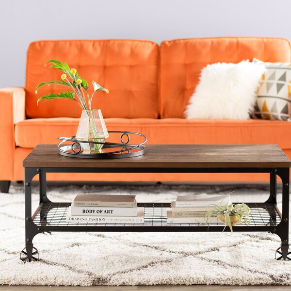 Pizano industrial Coffee Table by Mercury Row