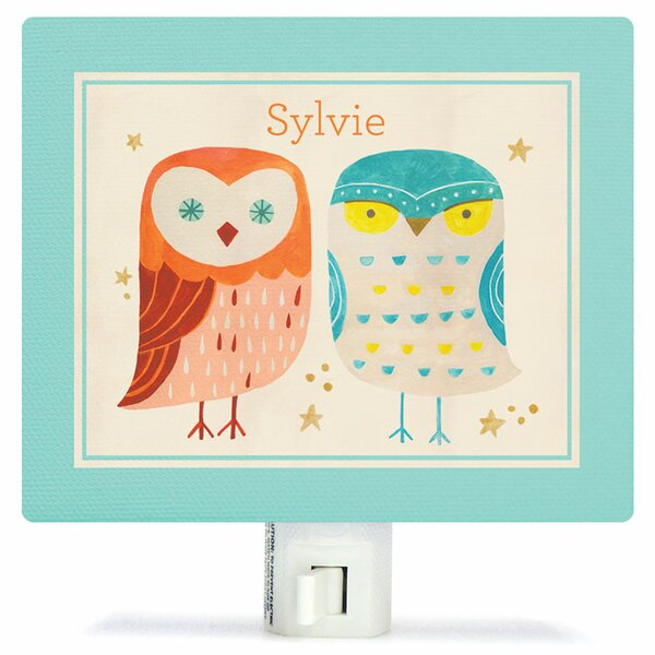Two Wise Owls Night Light by Oopsy Daisy