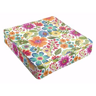Paxton Indoor Floral Square Dining Chair Cushion