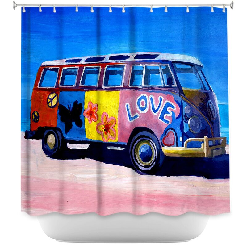 The Love VW Bus Shower Curtain