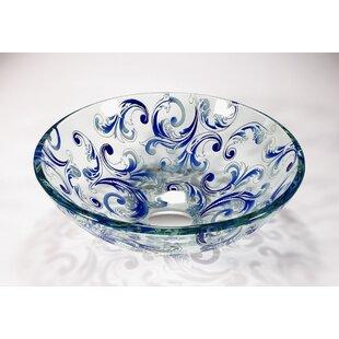 Bargain Glass Circular Vessel Bathroom Sink ByLegion Furniture