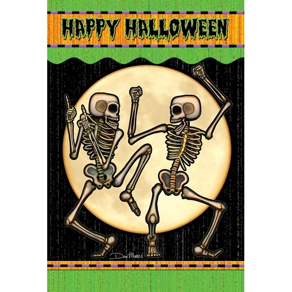 Dancing Skeletons Garden flag by Toland Home Garden
