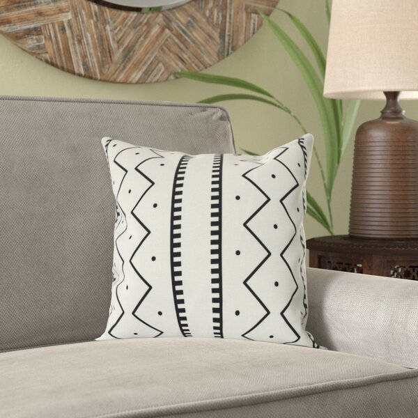 Lassiter Mudcloth Geometric Outdoor Throw Pillow by Bungalow Rose