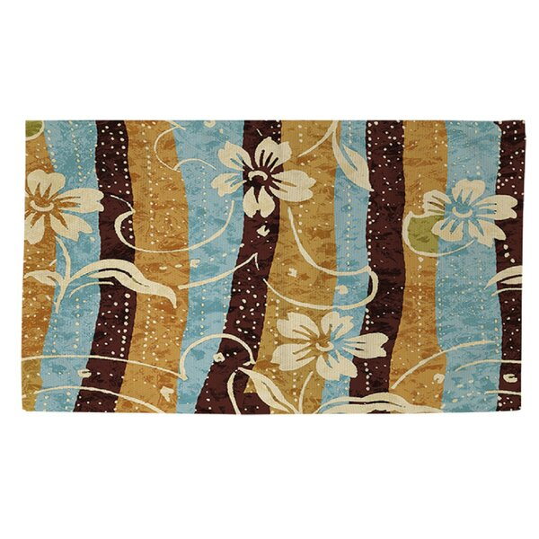 Floral Study in Stripes Area Rug by Manual Woodworkers & Weavers