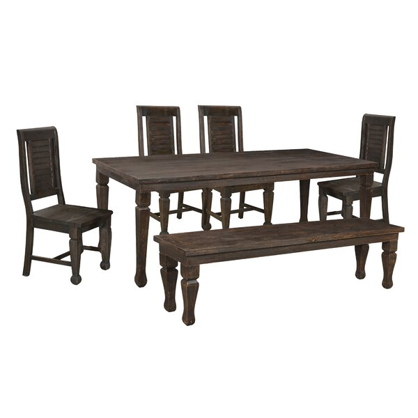 Ammerman 6 Piece Solid Wood Dining Set by Bloomsbury Market