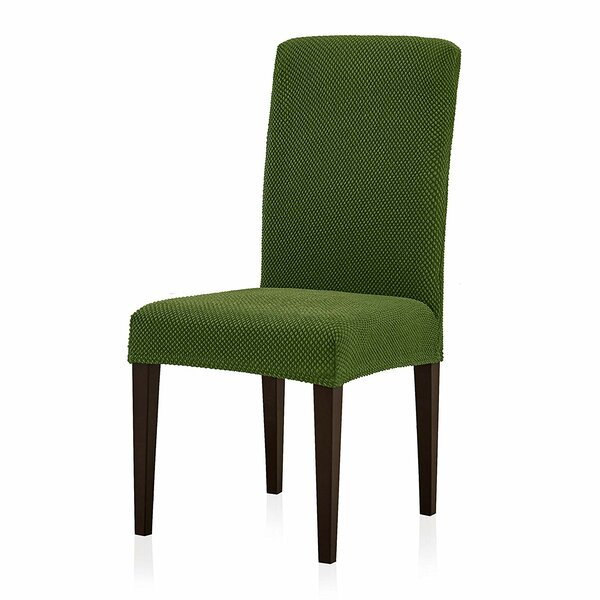 Jacquard Spandex Stretch Box Cushion Dining Chair Slipcover (Set Of 2) By Winston Porter