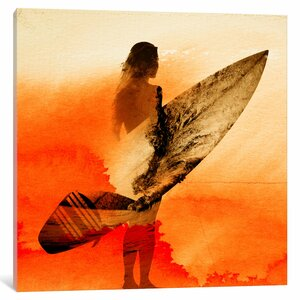 'Surfer's Morning' Graphic Art Print on Canvas by East Urban Home