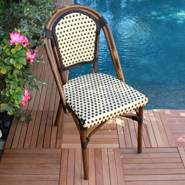 French Armless Saint Tropez Stacking Chair (Set of 6) by Infinita Corporation