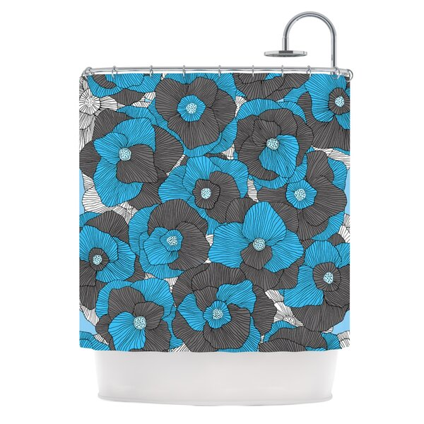 In Bloom by Skye Zambrana Floral Shower Curtain by East Urban Home