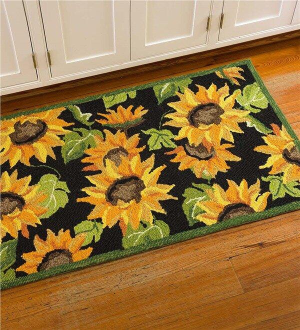 sunflower kitchen mat - Sunflower Kitchen