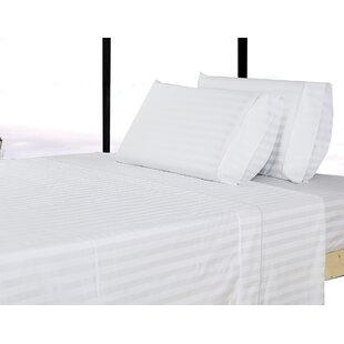 500 Thread Count 100% Cotton Striped Sheet Set ByAffluence Home Fashions
