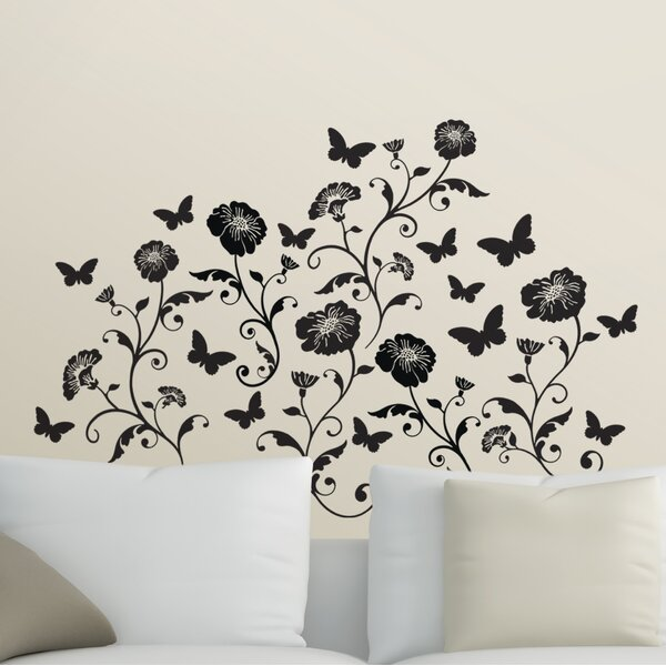 Jolley Floral and Butterfly Wall Decal (Set of 6) by Winston Porter