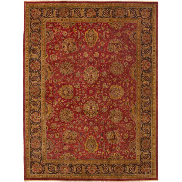 One-of-a-Kind Kenmar Hand-Knotted Wool Dark Red Area Rug by Darby Home Co