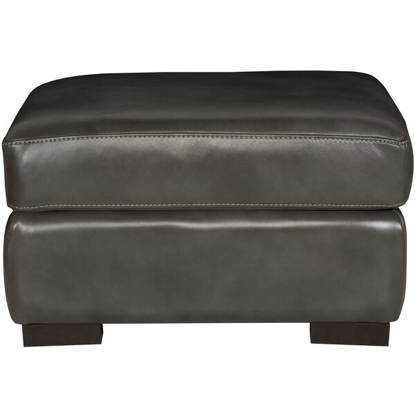Germain Leather Ottoman by Bernhardt