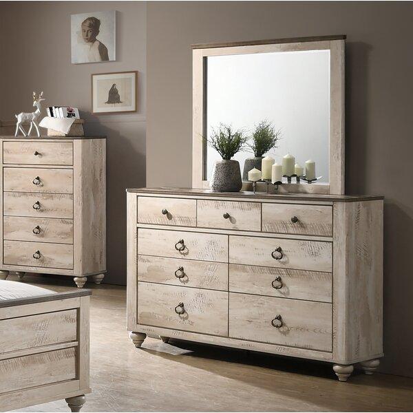 Pliner 9 Drawer Double Dresser with Mirror by Greyleigh
