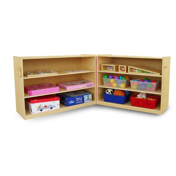 Folding Shelving Unit with Casters by A+ Child Supply