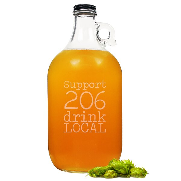 Personalized Drink Local Craft Beer Growler by Cathys Concepts