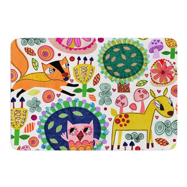 Woodland Critters by Jane Smith Bath Mat by East Urban Home