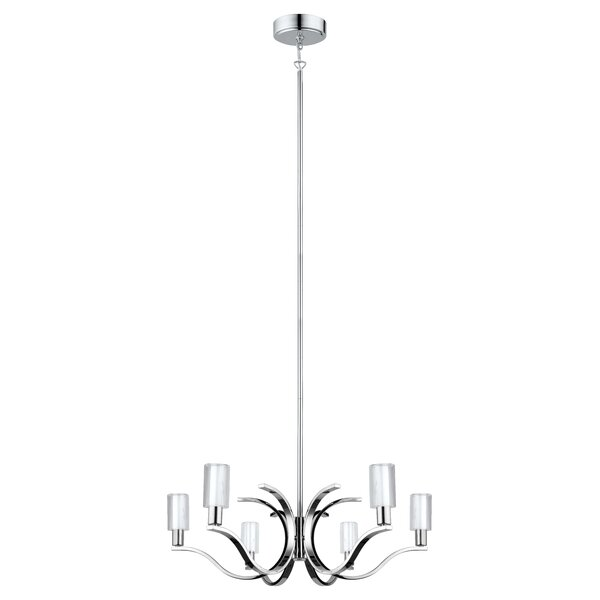 Lindsy 6-Light Shaded Chandelier by Latitude Run