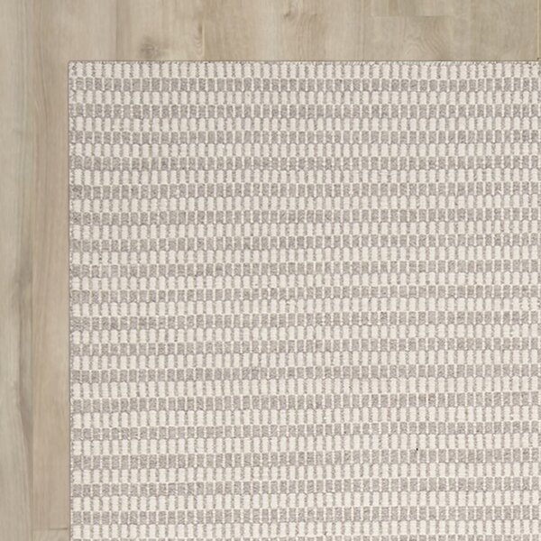 Ravena Feather Gray/Ivory Striped Rug by Surya
