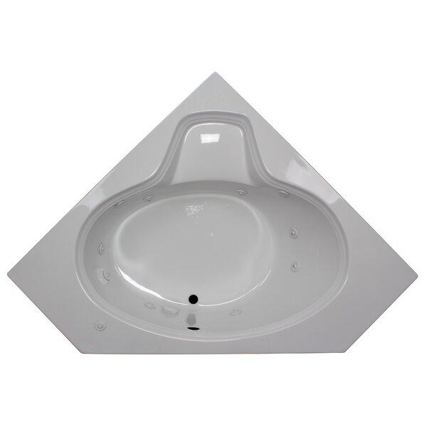 60 x 60 Corner Oval Whirlpool Tub by American Acrylic