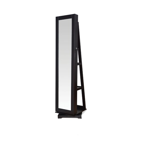 Jazi Free standing Jewelry Armoire with Mirror by A&J Homes Studio