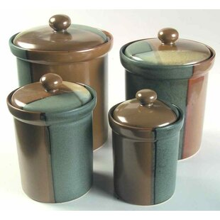 Attrayant 4 Piece Kitchen Canister Set