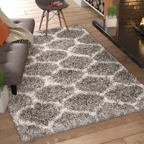 Elizabeth Street Gray/Ivory Area Rug by Wrought Studio