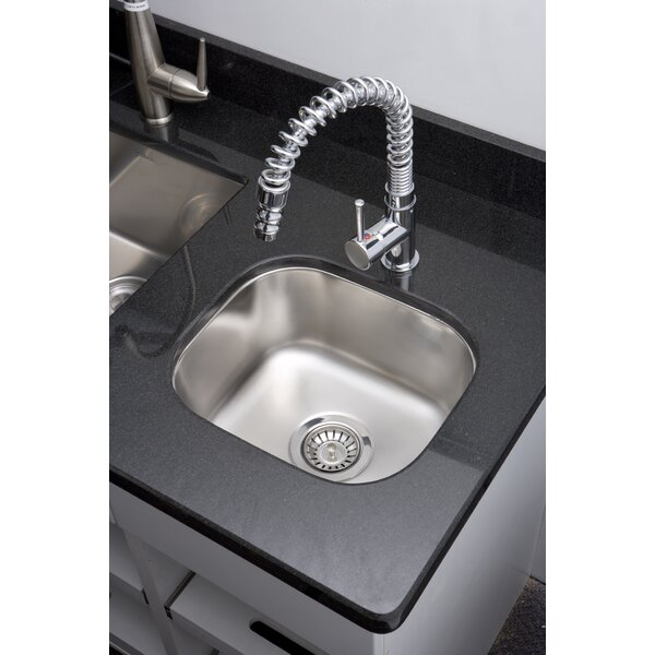15 L x 7 W Undermount Kitchen Sink with Basket Strainer