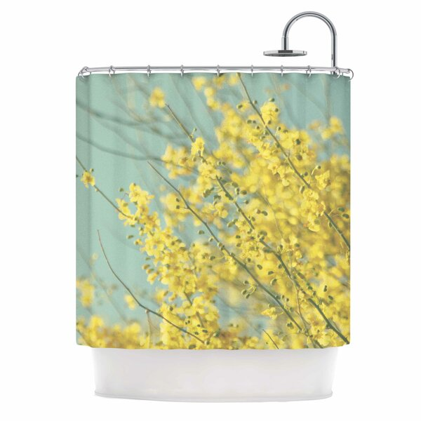 Blooms Shower Curtain by East Urban Home