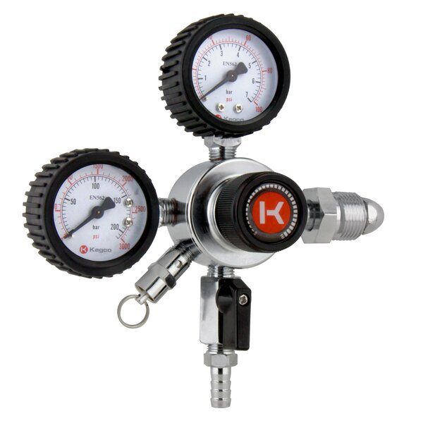 Premium Dual Gauge Nitrogen Draft Beer Single Tap Dual Tap Commercial Grade Regulator by Kegco