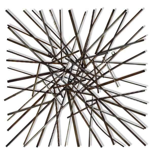 Pick Up Sticks Brown/Black/Silver Wall Décor by Corrigan Studio