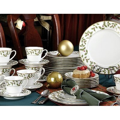 Holly and Berry Gold 40 Piece Dinnerware Set Service for 8  sc 1 st  Wayfair & Mikasa Gourmet Basics Red Berries 16 Piece Dinnerware Set Service ...