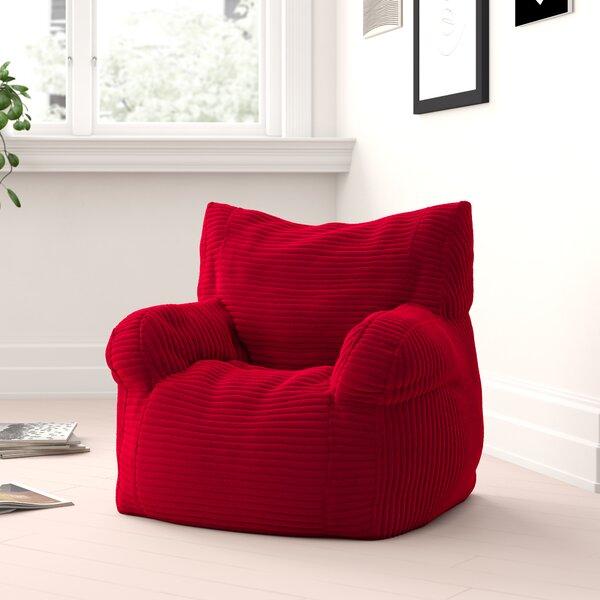 Small Velvet Bean Bag Chair & Lounger By Zipcode Design