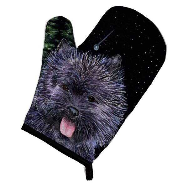 Starry Night Cairn Terrier Oven Mitt by Caroline's Treasures