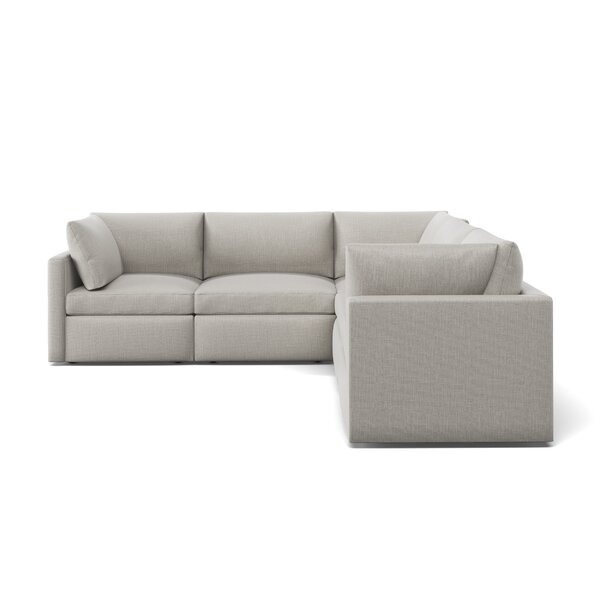 Bailee L-Shaped Symmetrical Modular Sectional By Foundstone