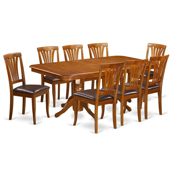 Pillsbury 9 Piece Dining Set with Double Pedestal Table Legs by August Grove