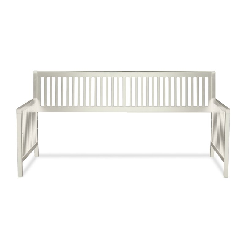 chafin wood daybed frame with open slatted back and side panels - Wood Daybed Frame