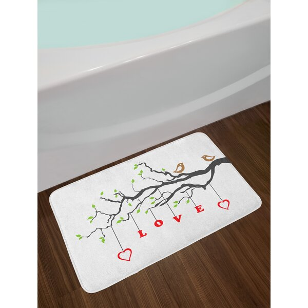 Two Love Bath Rug by East Urban Home